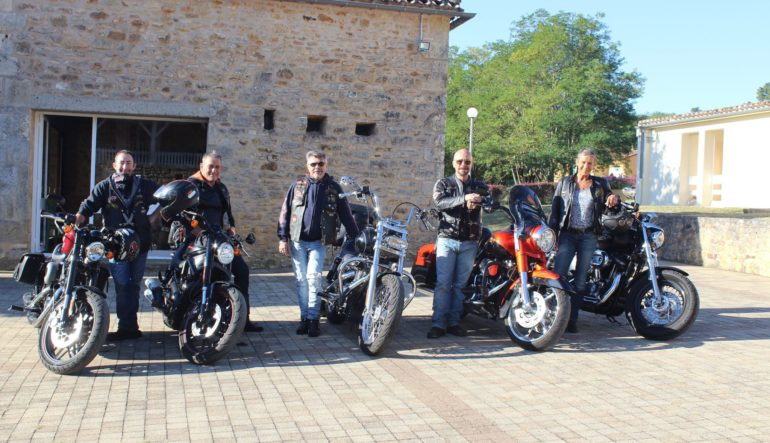The bikers coming